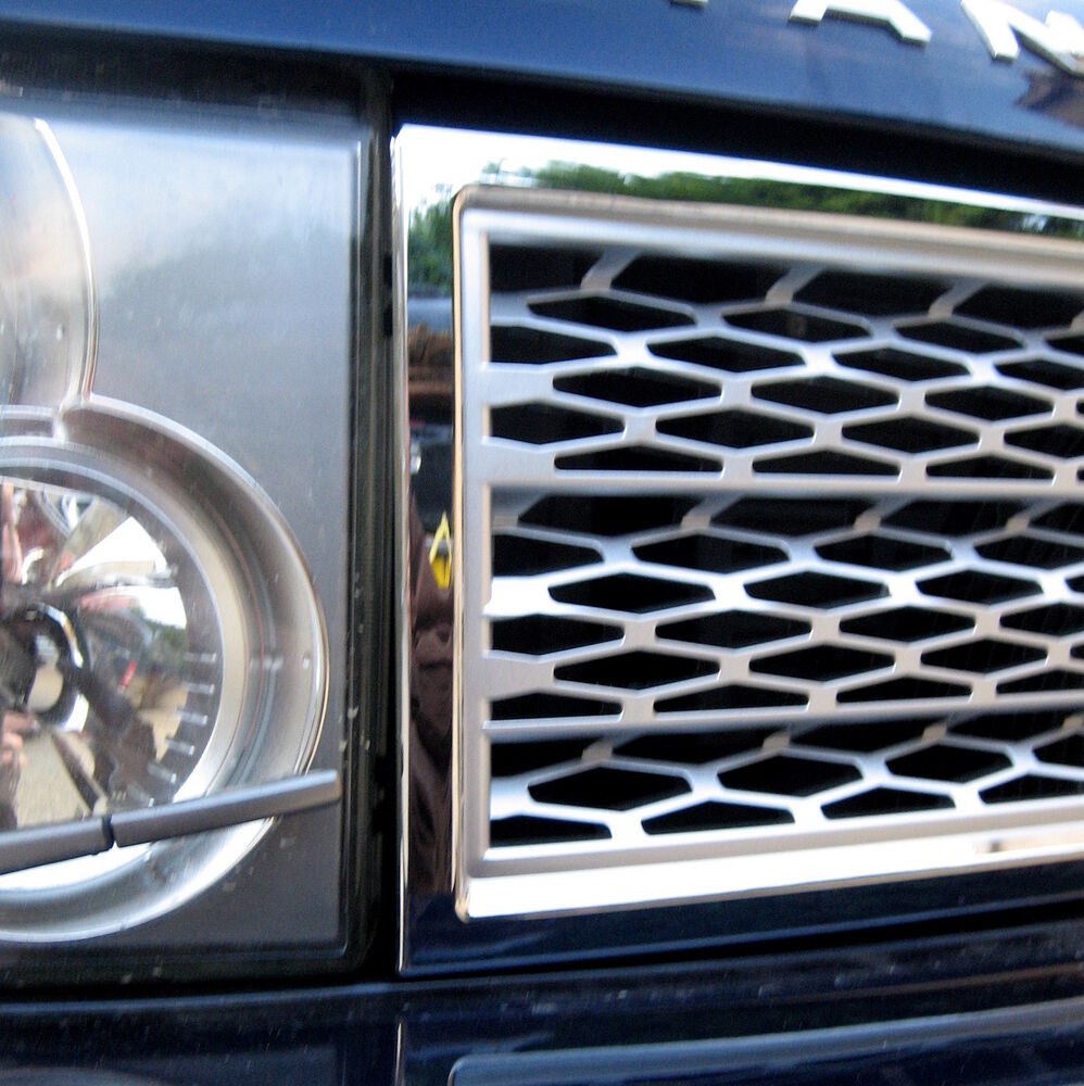 Chrome+Silver SUPERCHARGED Style GRILLE Upgrade Kit For