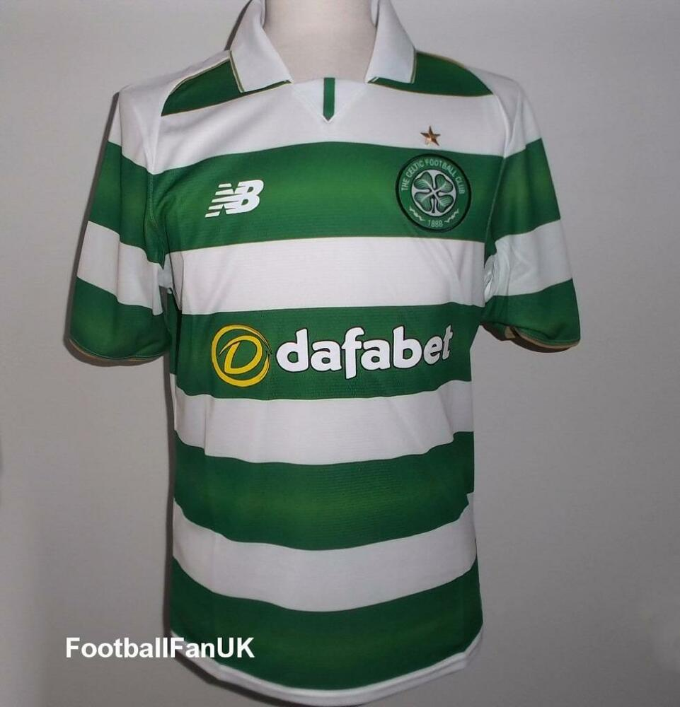 31a68185121 Details about CELTIC FC Official NB Home Football Shirt 2016-2017 NEW  Jersey Top Men's Small S
