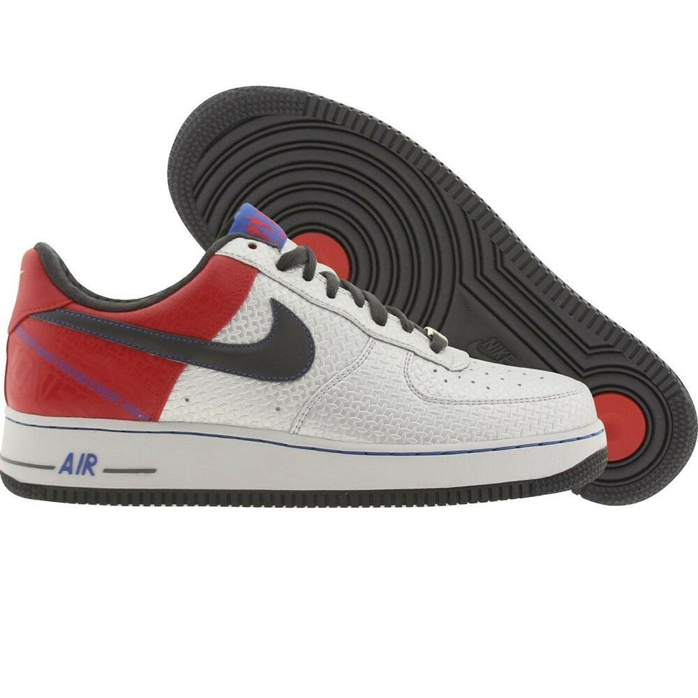 hot sale online b05fe 845eb Details about 315090-001 Nike Air Force 1 Low Premium Original Six - Bobby  Jones Silver Red
