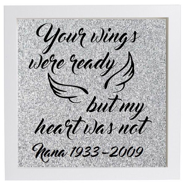 Personalised Your Wings Were Ready But My Heart Was Not