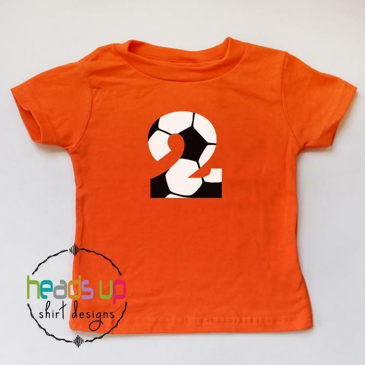 Details About Soccer 2 Birthday Shirt Boy Girl Second Bday Toddler Sports Tshirt Kids 2nd Tee