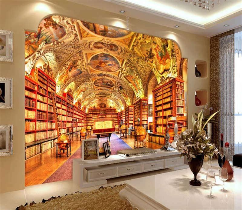 Strahov monastery library full wall mural photo wallpaper for Home wallpaper ebay