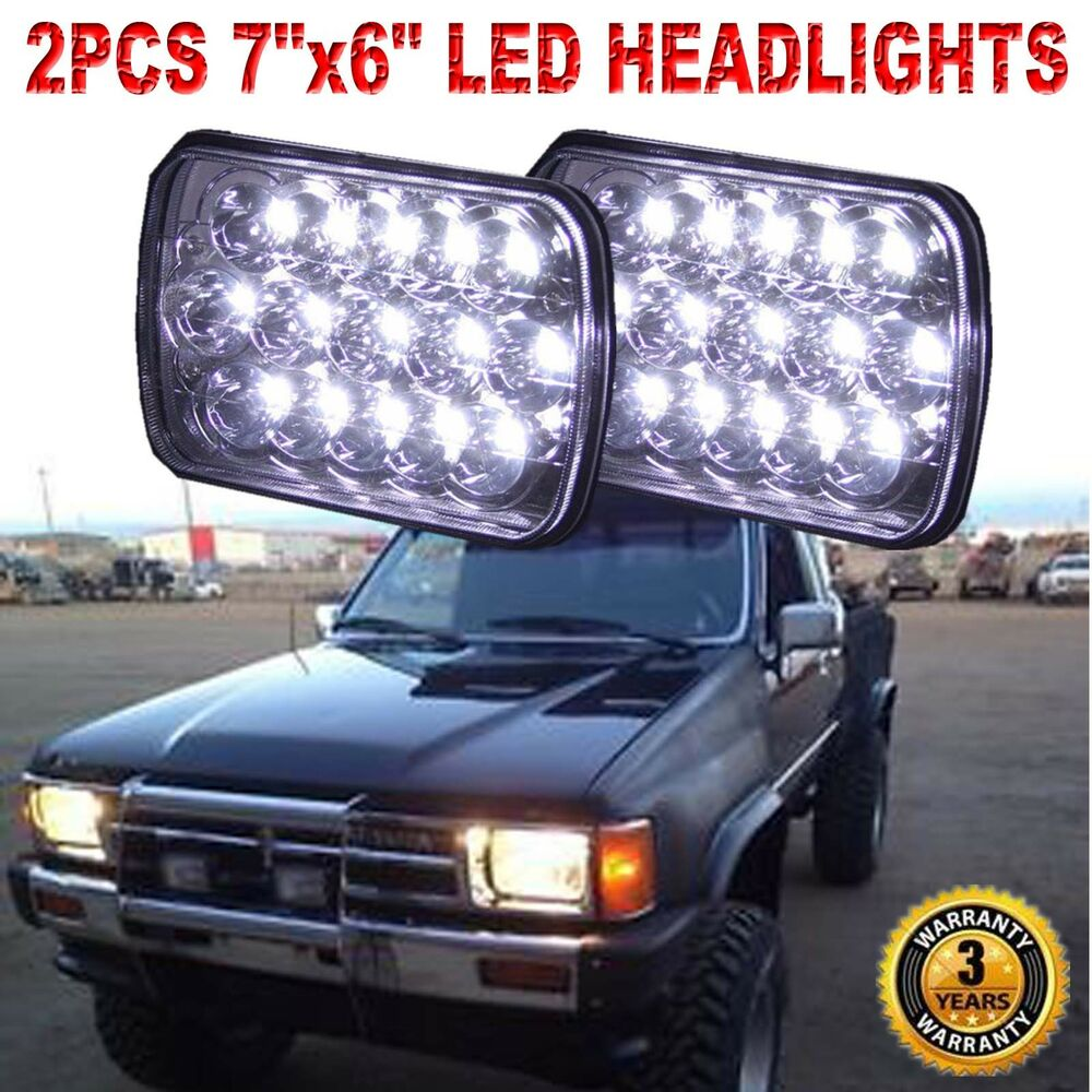 Toyota 94 Pickup: Pair CREE H6054 7x6 LED Headlights Sealed Beam For Toyota