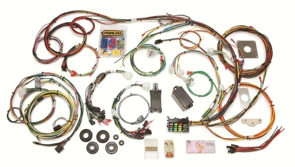 painless perf 22 circuit 1965 66 mustang chassis wiring harness 20120 ebay. Black Bedroom Furniture Sets. Home Design Ideas
