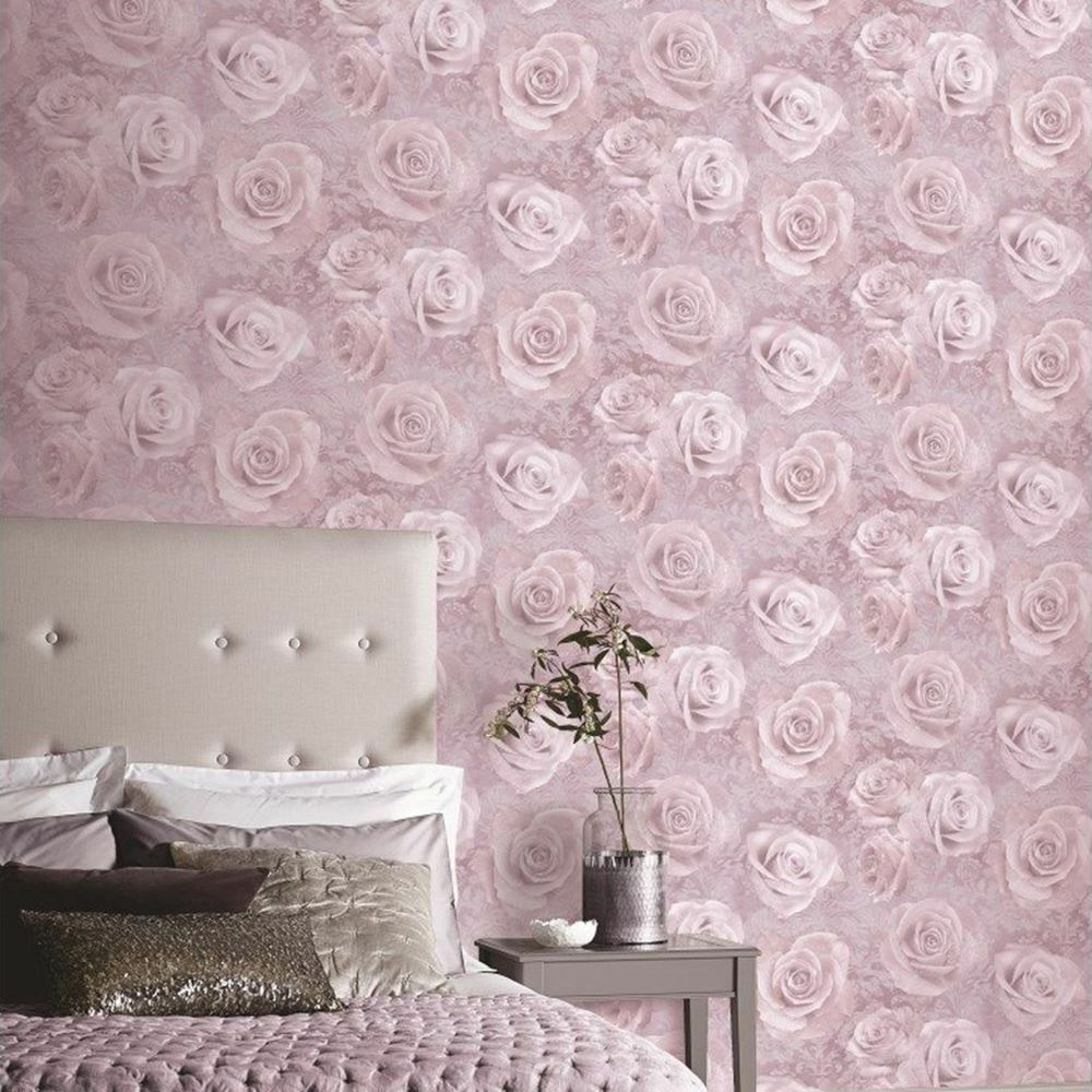 Arthouse Blush Pink Rose Fl Flowers Heavyweight Quality Wallpaper 623302