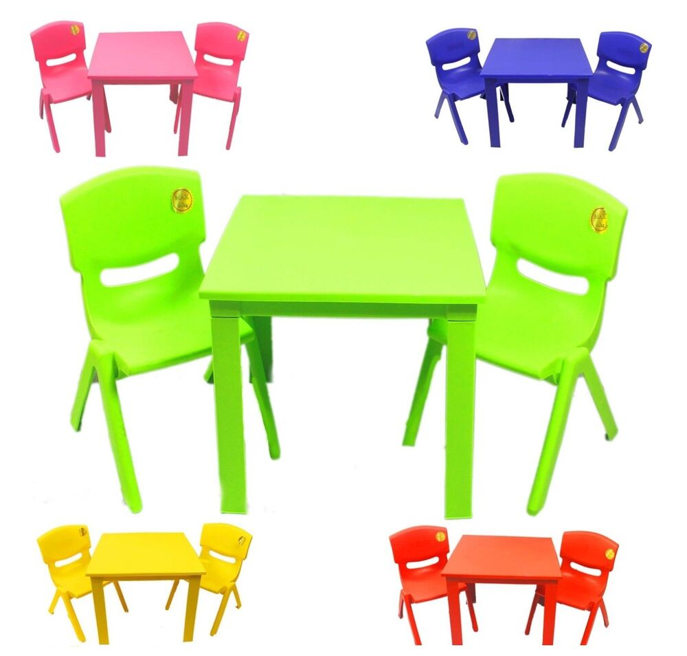 Childrens Kids Plastic Folding Table And Chairs Nursery