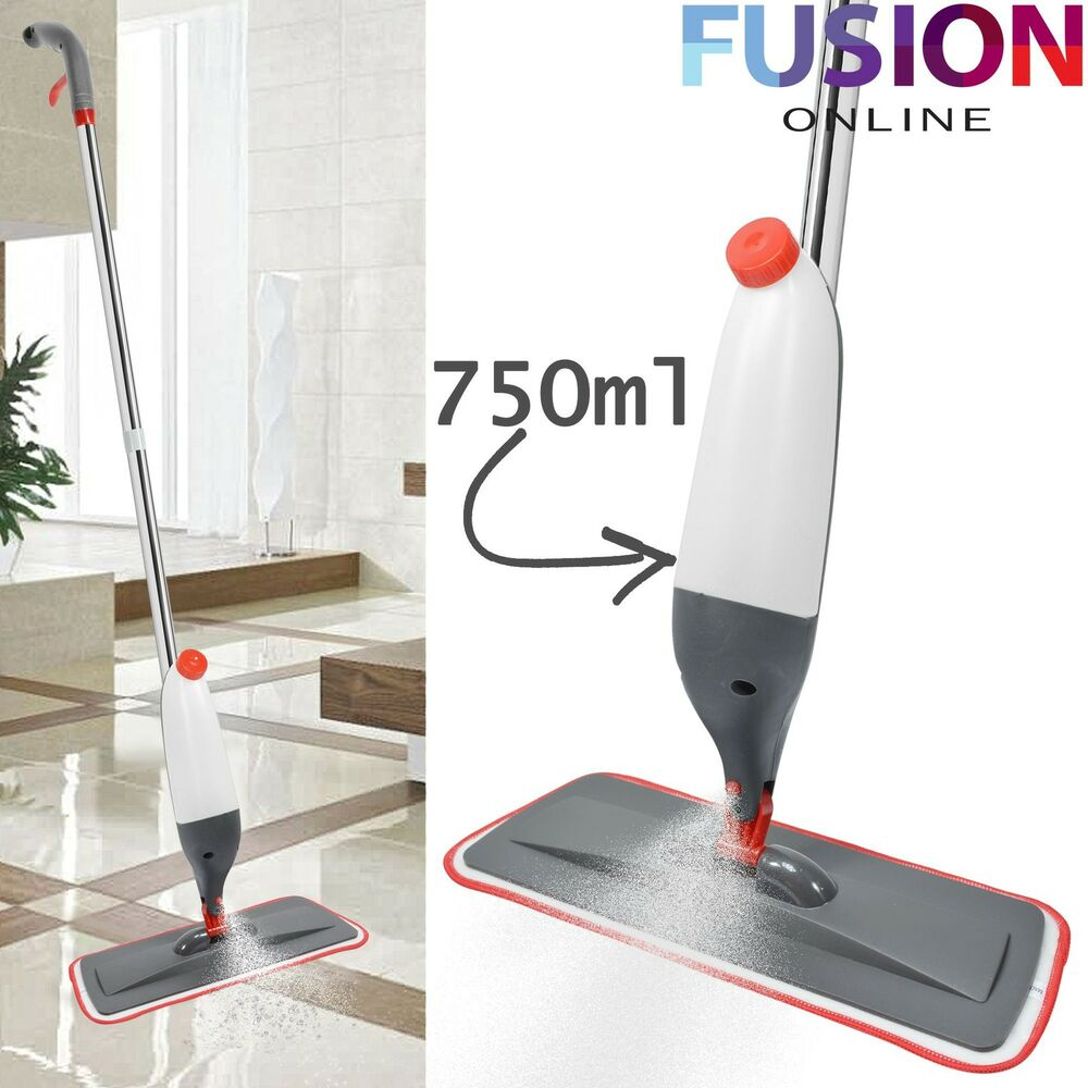 750Ml Spray Mop Water Spraying Floor Cleaner Tiles Microfibre Marble Kitchen 5056074352755