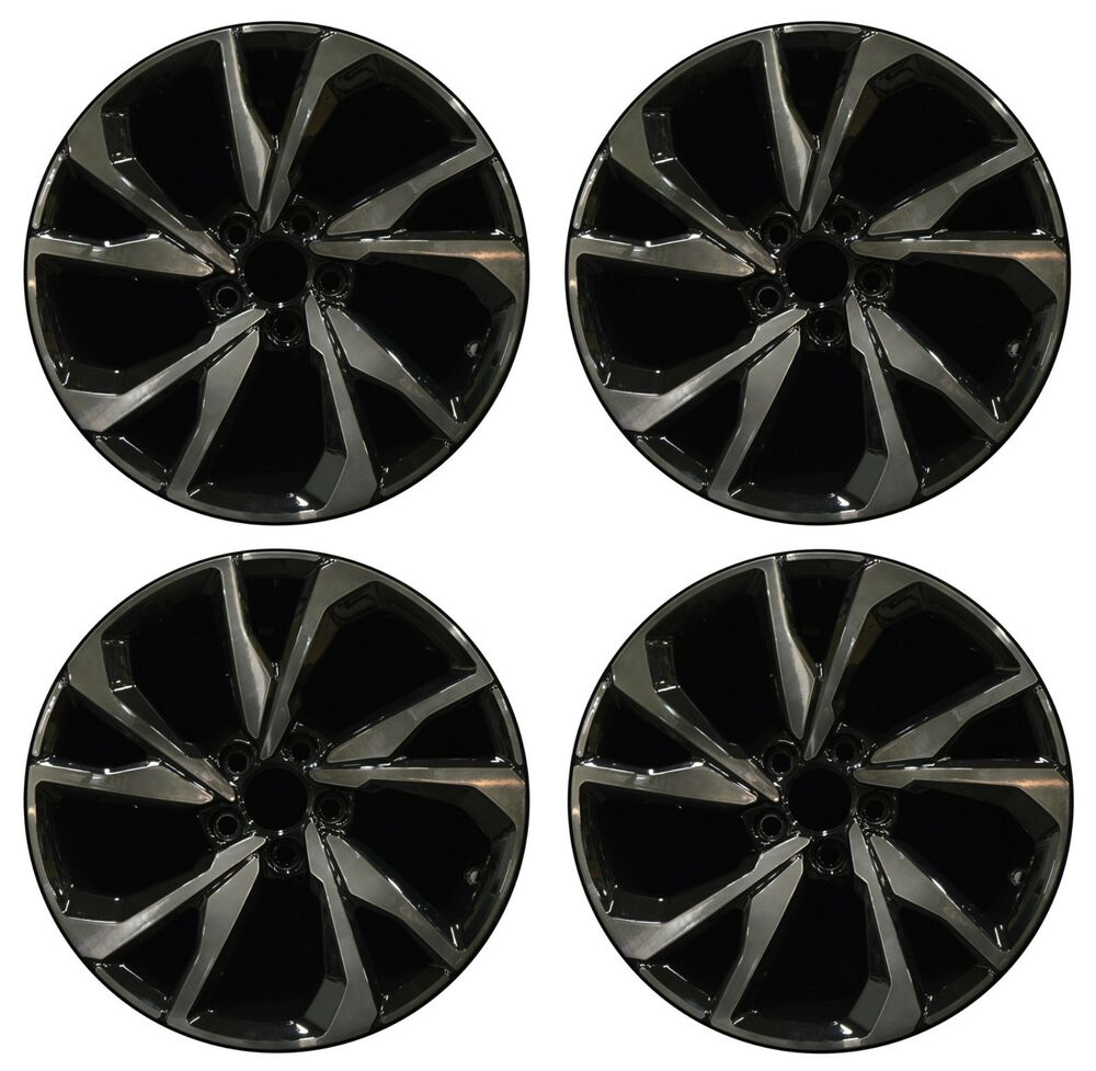 18 Honda Civic Hatchback 2017 2018 Factory Oem Rim Wheel 64108 Tinted Black Set Ebay