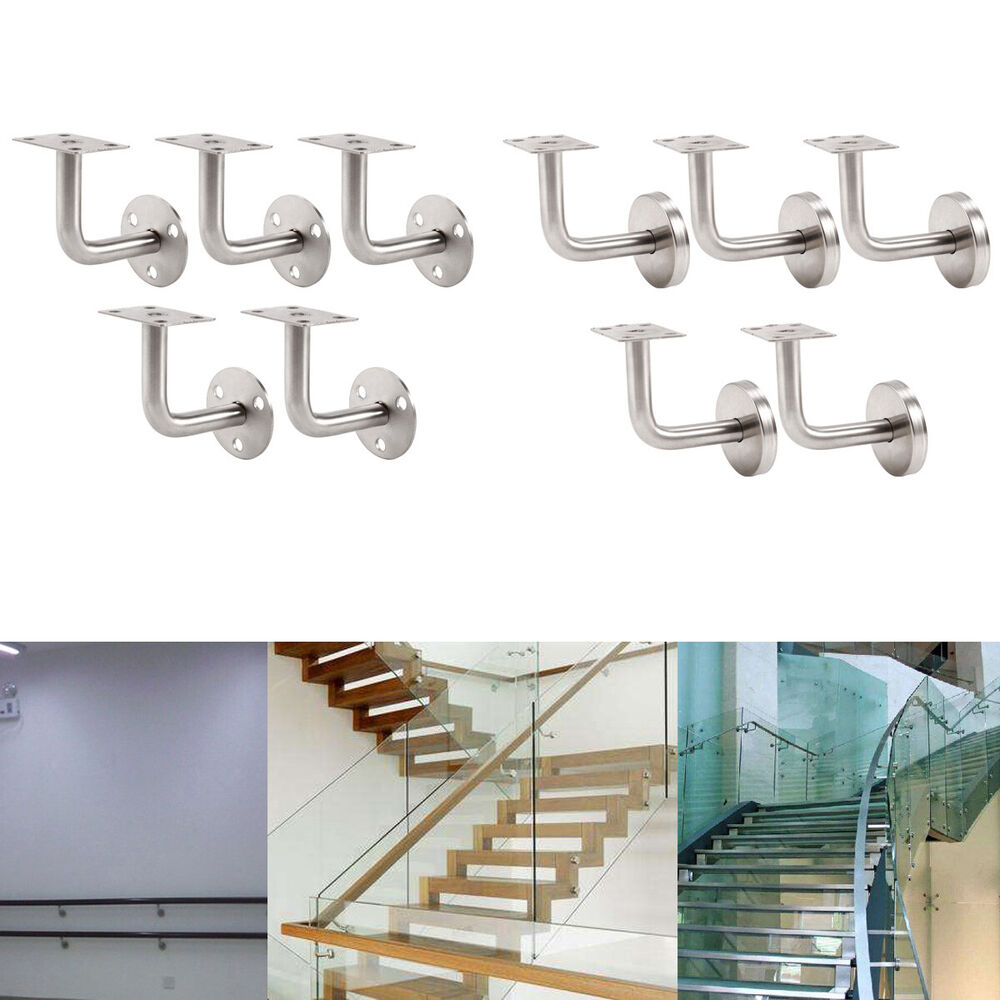 5x Stainless Steel Banister Rail Mounting Handrail Wall