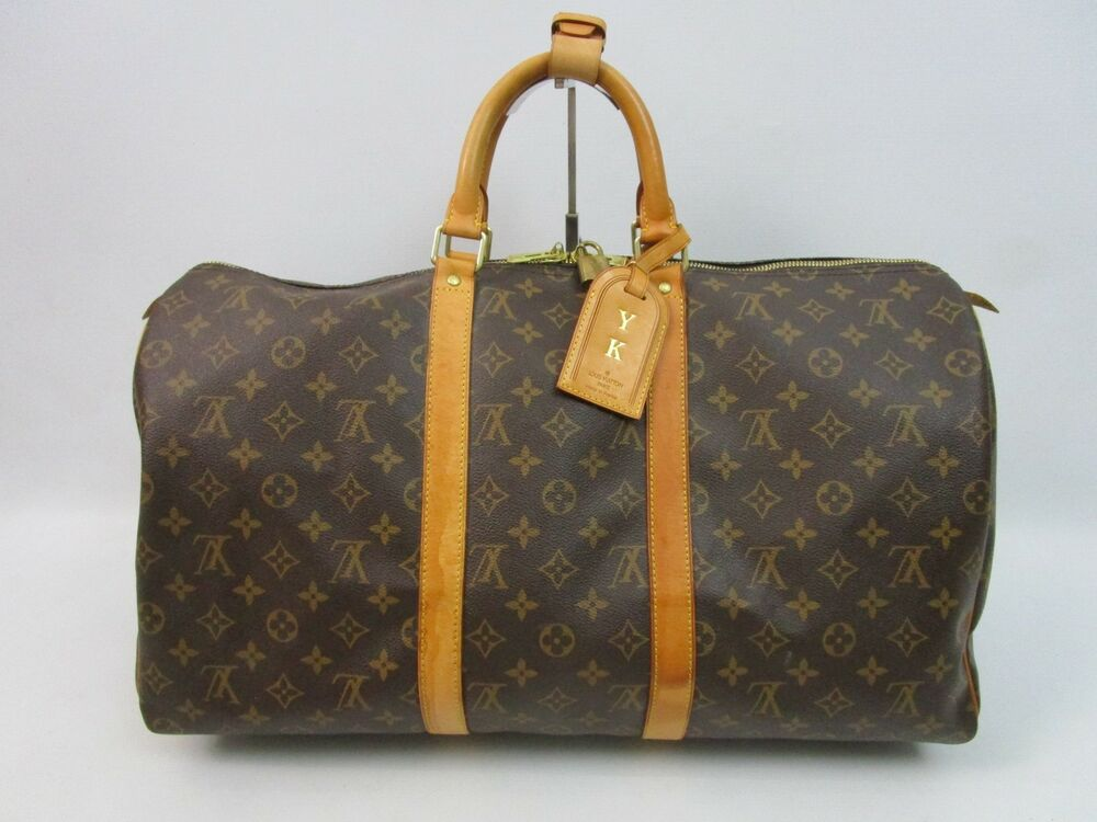 louis vuitton tasche weekender reisetasche keepall 50 monogram canvas edel ebay. Black Bedroom Furniture Sets. Home Design Ideas