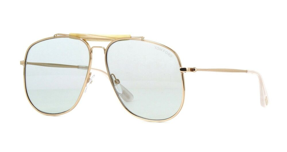 890059842e7 Tom Ford CONNOR-02 FT 0557 shiny rose gold light blue green (28V) Sunglasses  664689888436