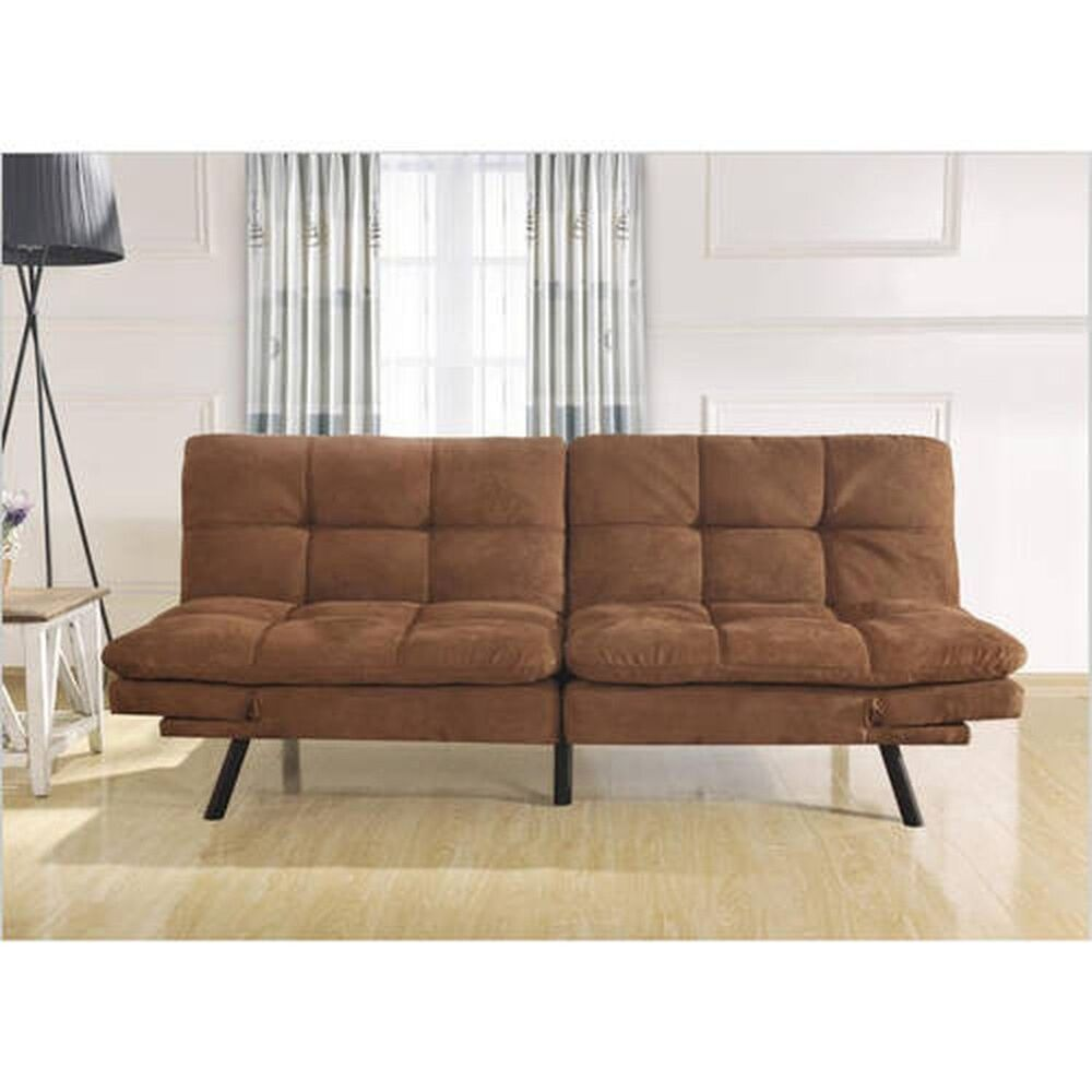 Memory Foam Futon Sofa Bed Sleeper Lounger Dorm Living Room Couch