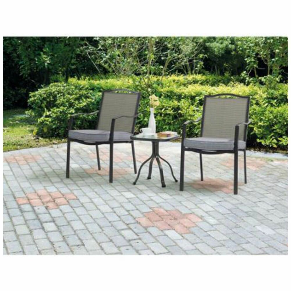 3 piece bistro set outdoor chairs table patio furniture for Pool and patio furniture