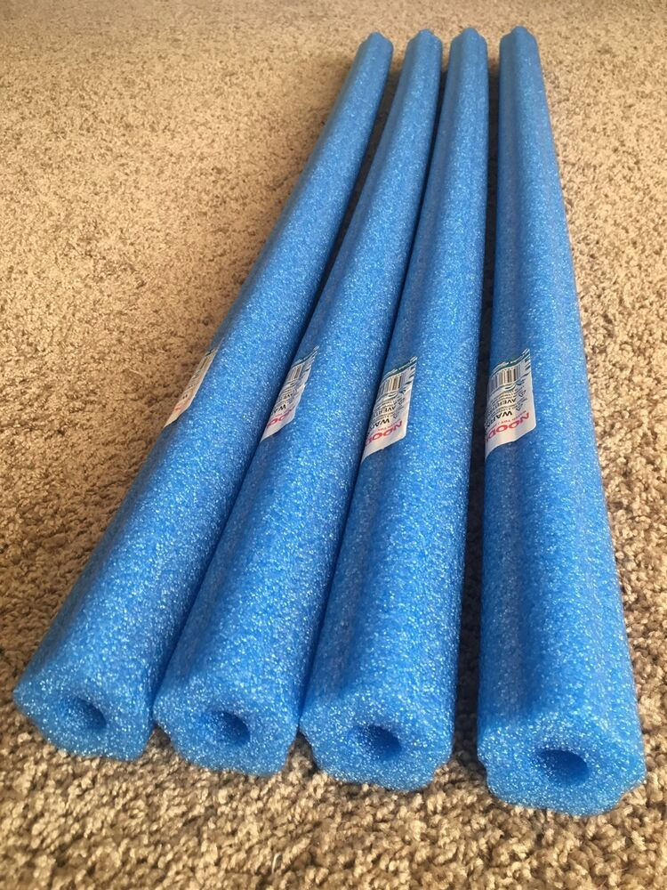 Lot 4x Blue Pool Noodles Foam Swimming Therapy Water
