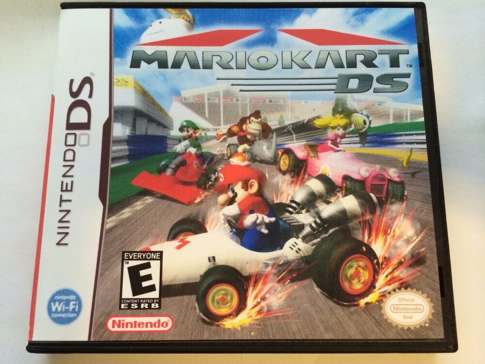 mario kart ds nintendo ds replacement case no game ebay. Black Bedroom Furniture Sets. Home Design Ideas