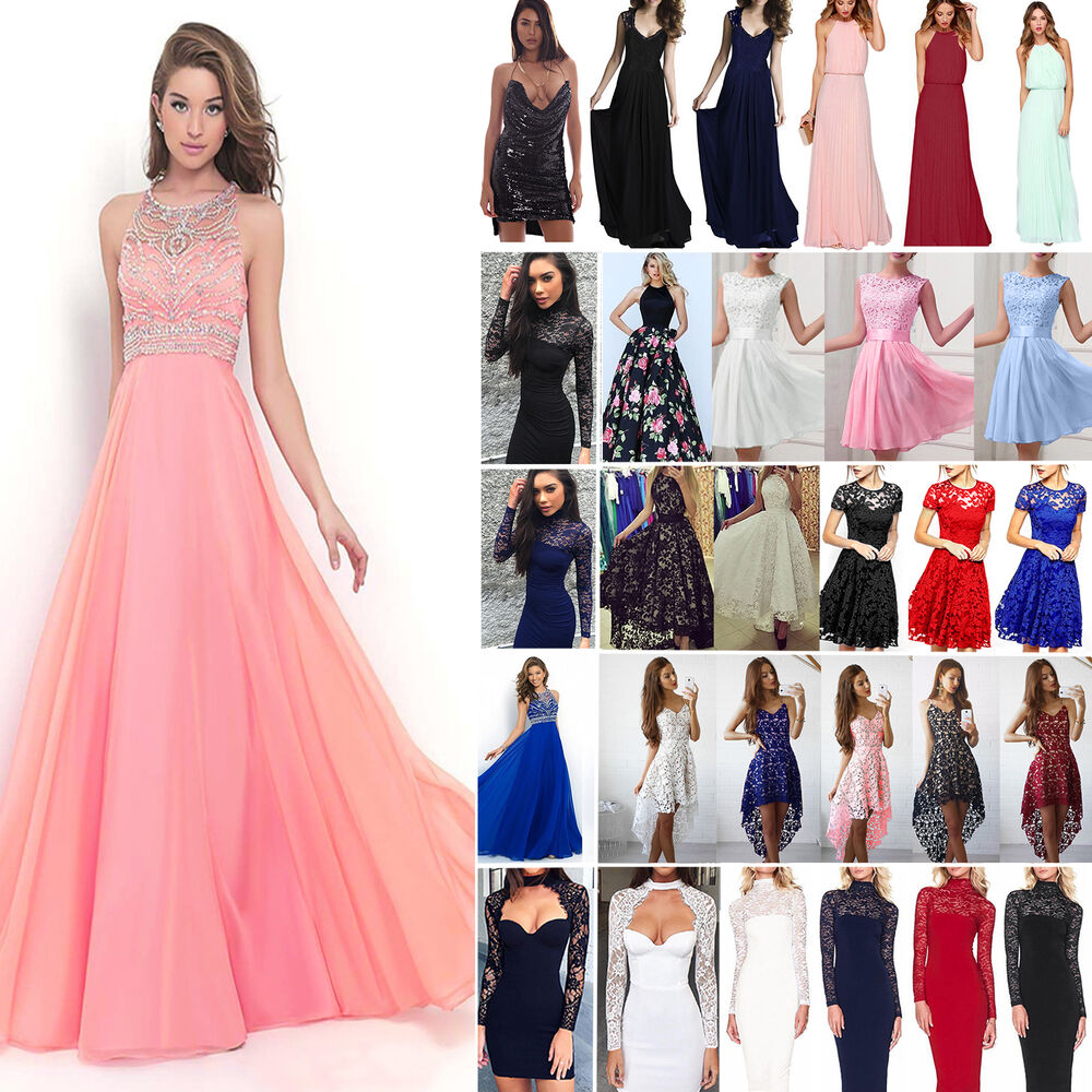 Wedding Formal Gowns: Women Lace Formal Dress Wedding Evening Ball Gown Party