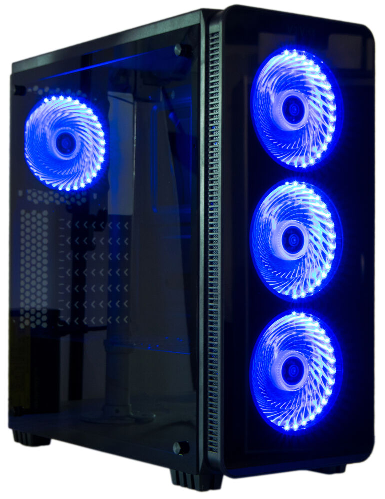 vivo atx mid tower computer gaming pc case 6 fan ports 3 speed control usb 3 0 691200974354 ebay. Black Bedroom Furniture Sets. Home Design Ideas
