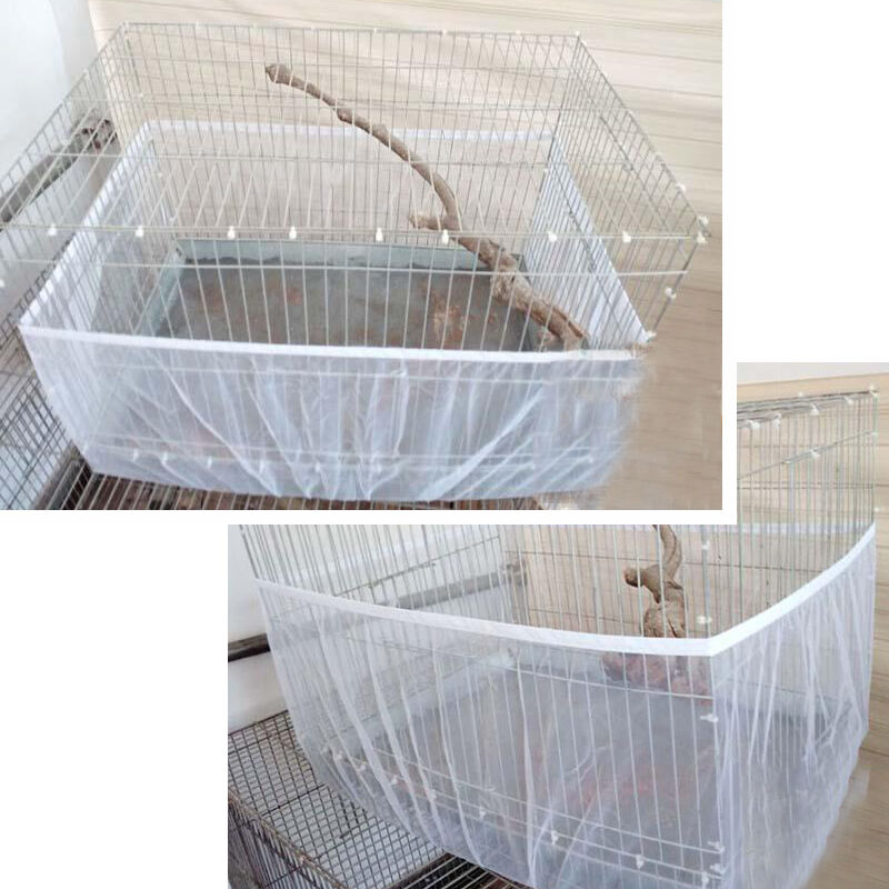 Stretchy Seed Catcher Buy Guard Bird Cage Mesh Cover Shell