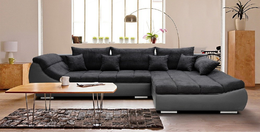 Hektor ecksofa mit schlaffunktion komfort bettkasten for Couch schlaffunktion bettkasten