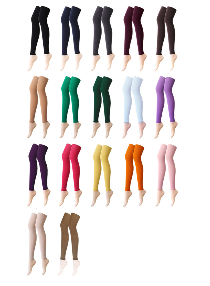 f8bec47e7502f7 Details about 21 Colour 80 Denier Women Opaque Footless Pantyhose Stockings Hosiery  Tights 80D