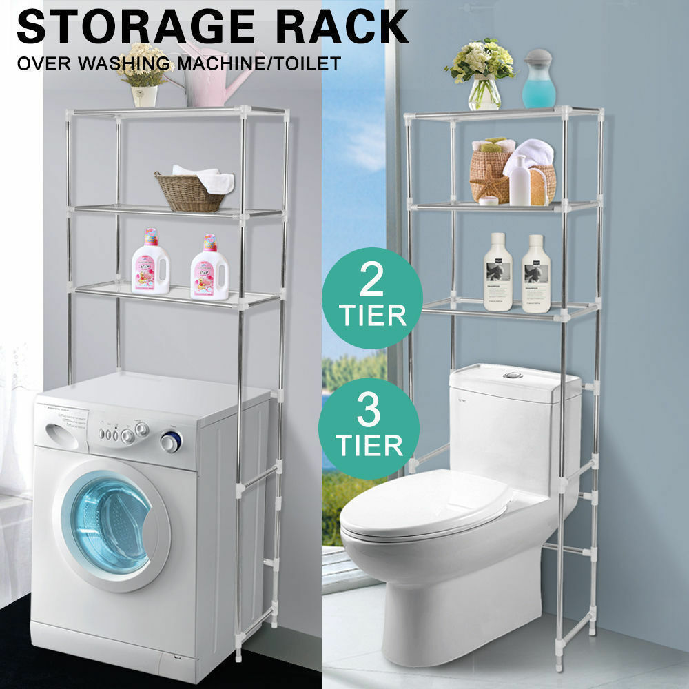 Storage Rack Over Toilet/Bathroom/Laundry/Washing Machine Shelf Unit ...