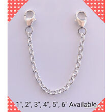 Sterling Silver Filled Strong Link Bracelet/Necklace Extender/Safety Chain