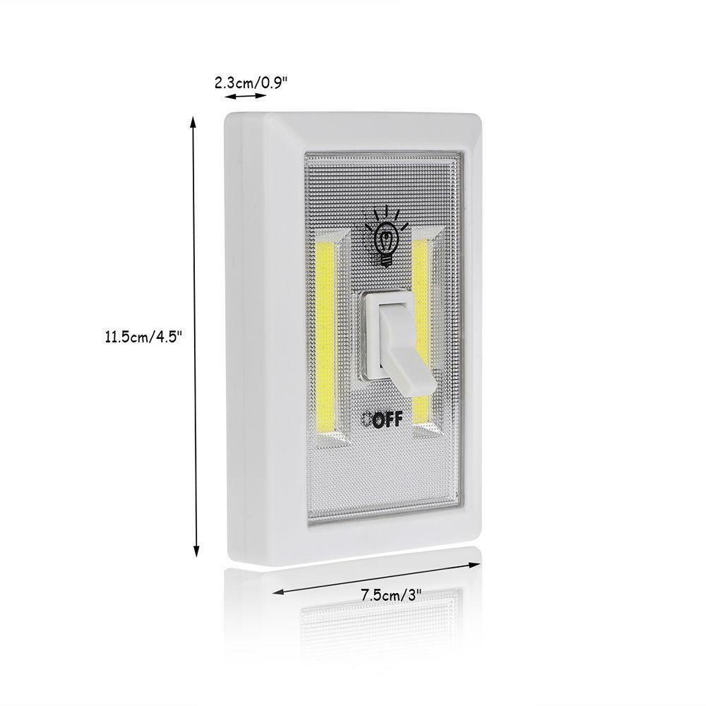 3w cob led wall switch wireless closet cordless night for Wireless closet lighting