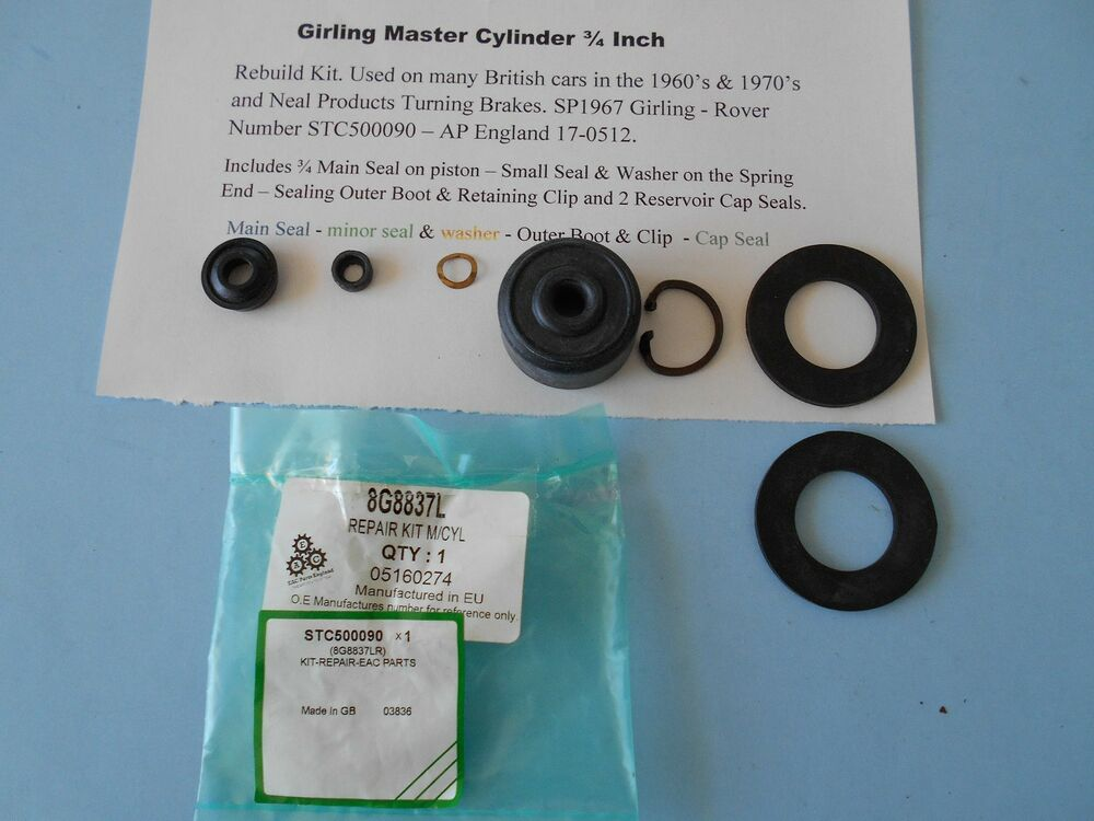 Clutch Slave Cylinder >> Brake & Clutch Master Cylinder Repair Kit Girling SP1967 3 ...