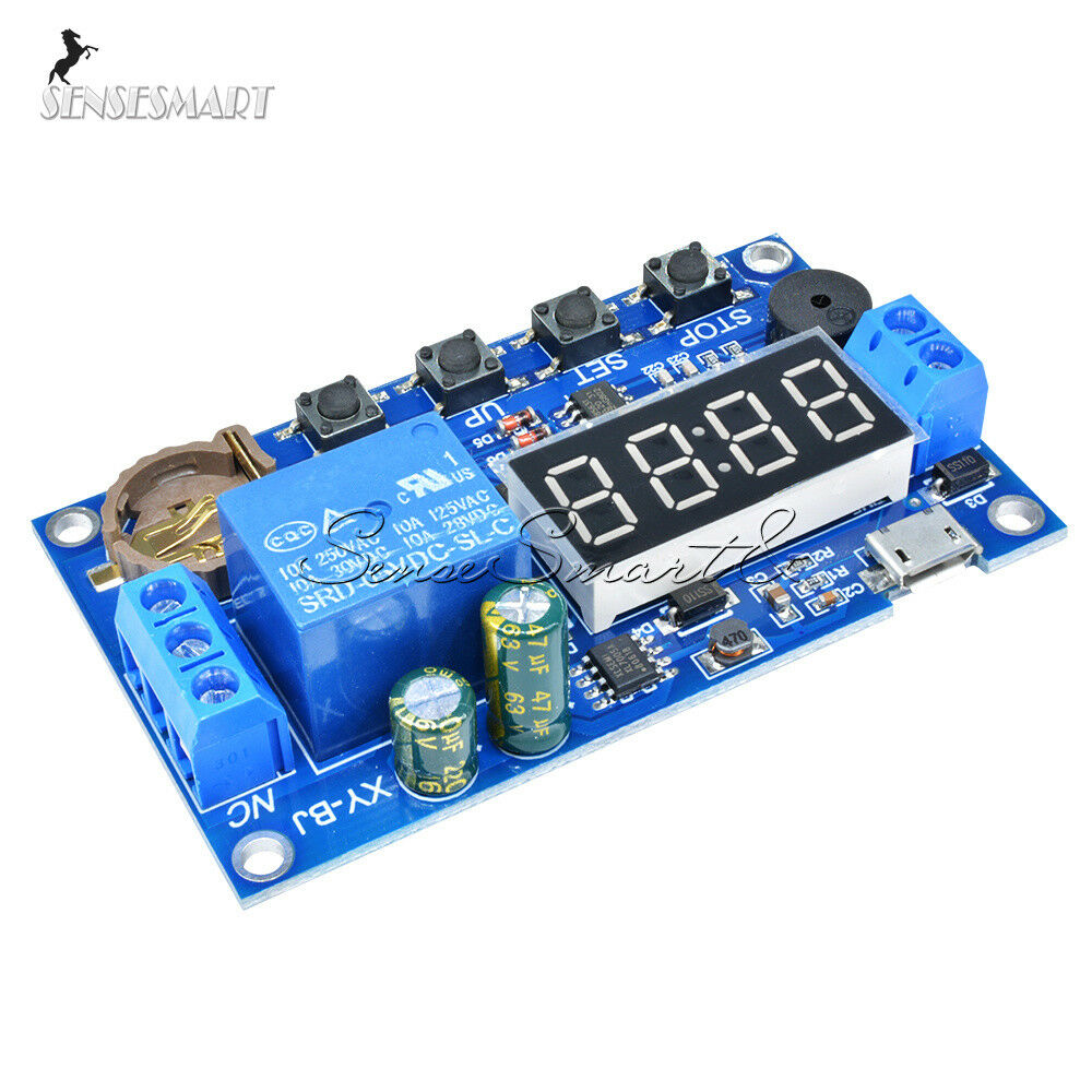 Real Time Timing Switch Relay Module Control Clock Synchronization Timer Circuit Delay