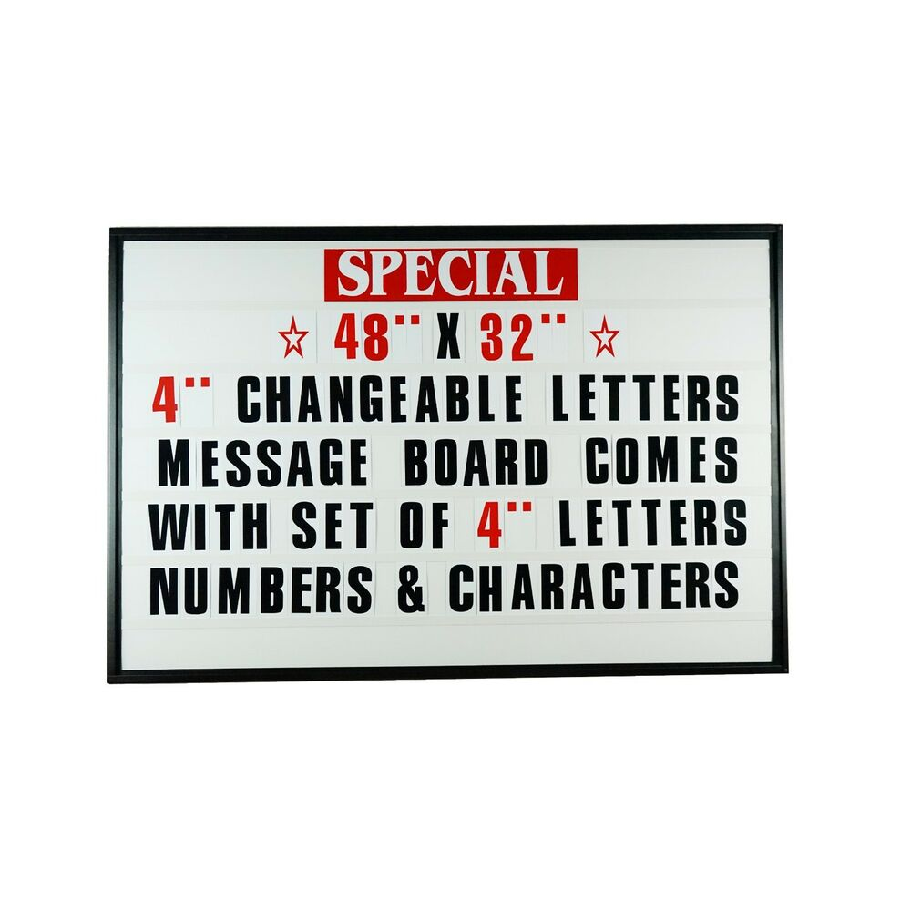 4quot outdoor changeable letter message board marquee sign for Changeable letter sign panels