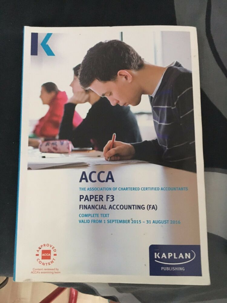 Acca books ebay acca f3f4f5 books kaplan published 201520162017 edition fandeluxe Images