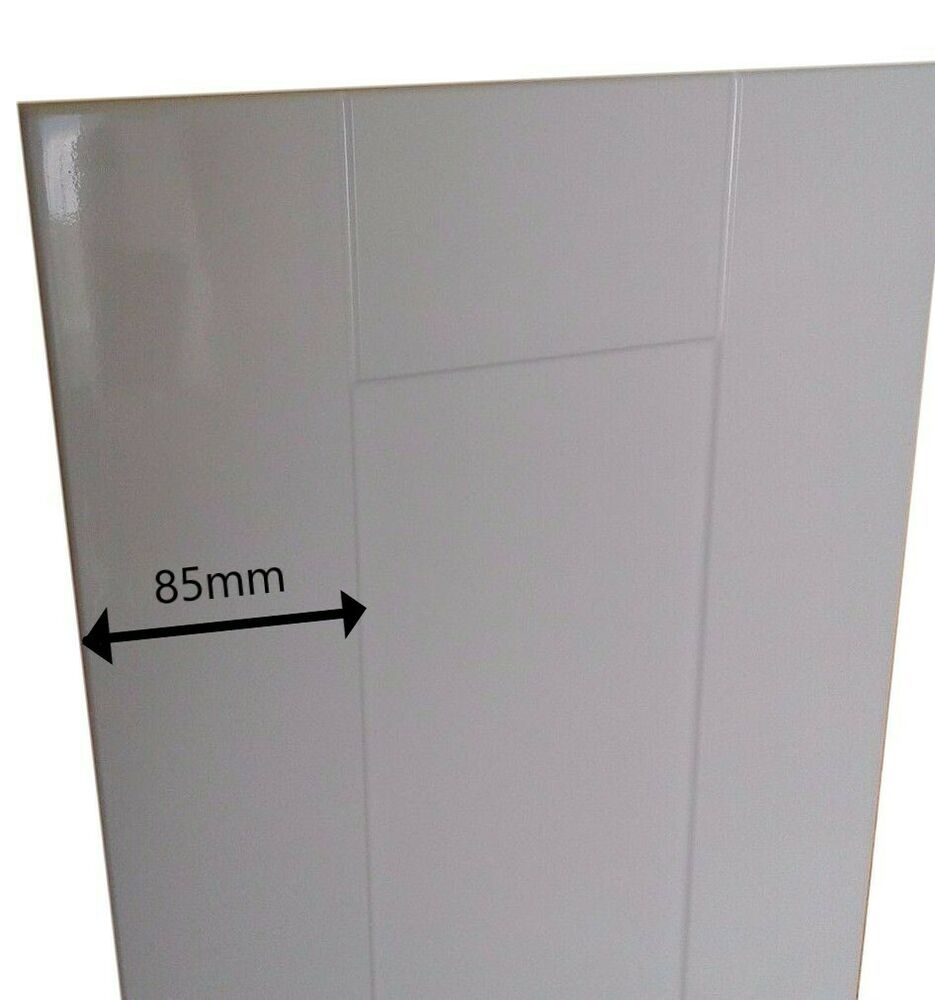 Kitchen Unit Cupboard Doors Gloss White Shaker Panel Style To Fit Most Cabinets