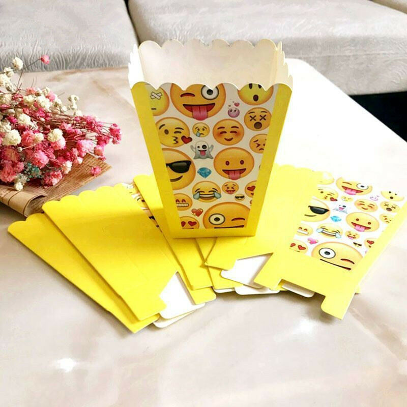 Details About 12pcs Emoji Favor Box Candy Kids Birthday Party Supplies Favors Baby Shower