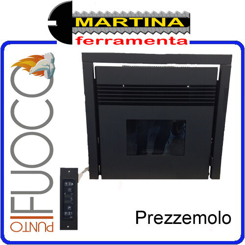 insert chemin e a pellet punto feu mod le persil 7 5 kw par eva calor ebay. Black Bedroom Furniture Sets. Home Design Ideas