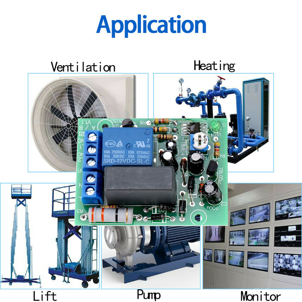 Ac 220v Input  Output Timer Delay Switch Module Adjustable Timing Turn Off Board