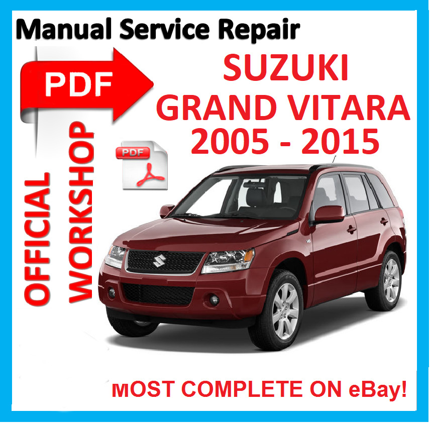 official workshop manual service repair for suzuki grand vitara 2005 rh ebay co uk grand vitara manual 2006 grand vitara manual service