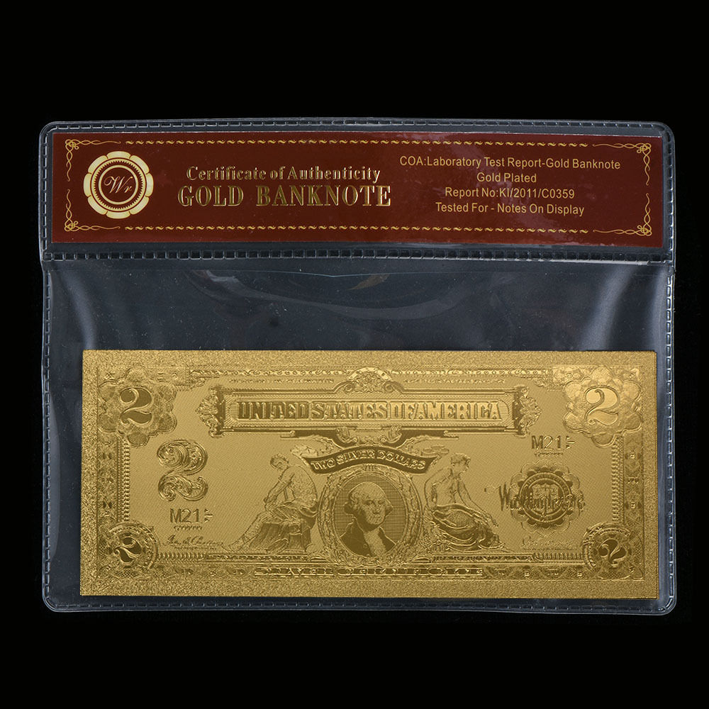 Wr Gold Old Us Banknote 1899 2 Two Dollar Silver Certificate Note