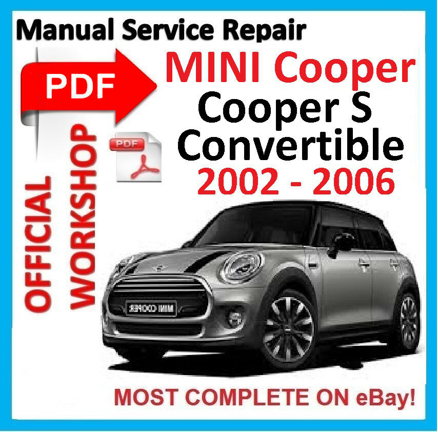 official workshop manual service repair for mini cooper s rh ebay com 2002 Mini Cooper Service Manual 2006 Mini Cooper Dashboard Switches