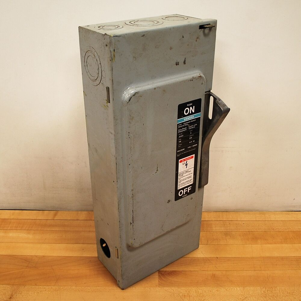 100 Amp Disconnect >> Siemens Ju323 Safety Disconnect Switch 100 Amp 240 Vac Non Fused