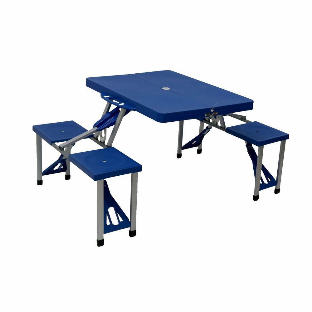 New Portable Folding Outdoor Picnic Pit Table And Bench