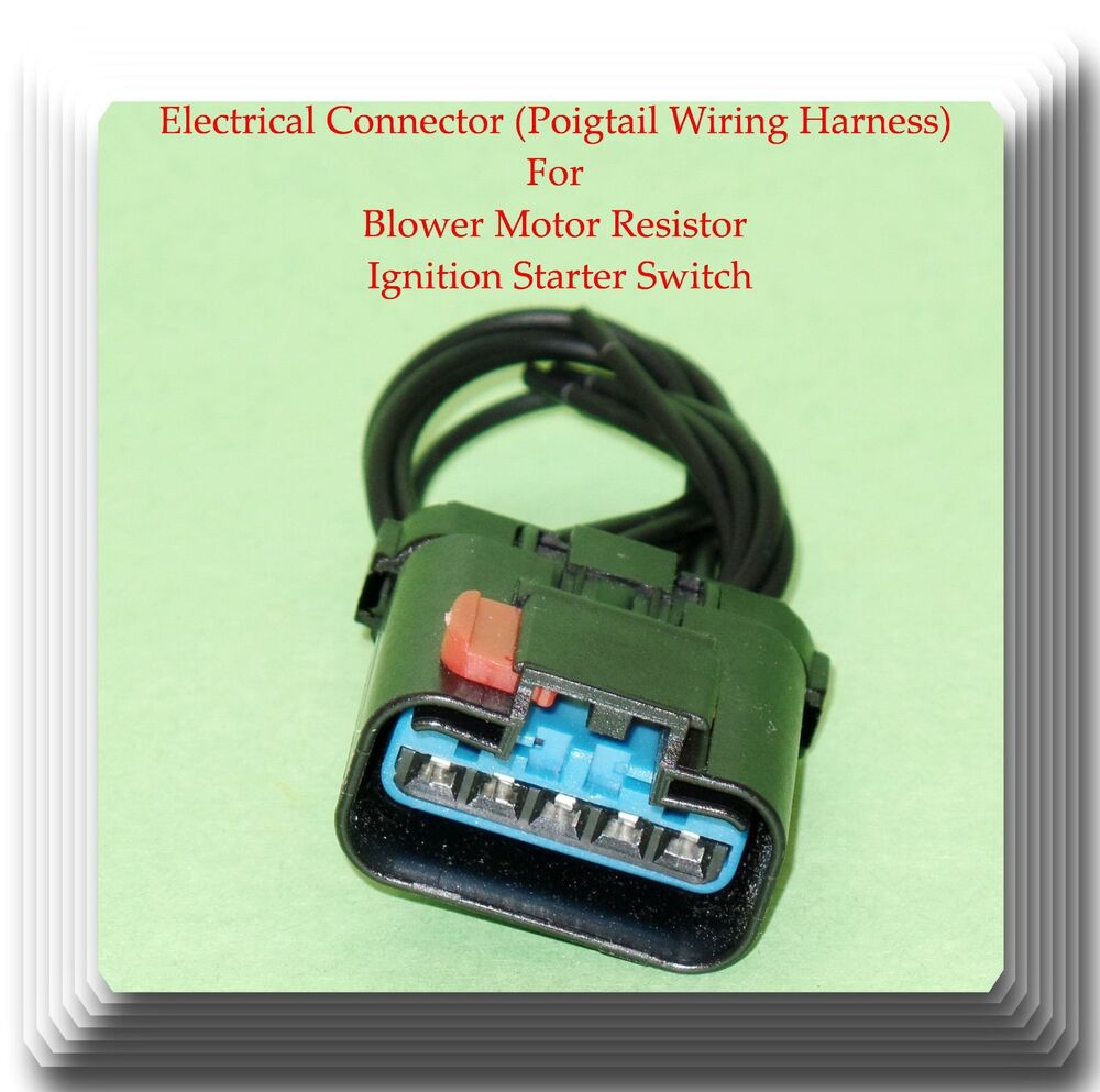 5 Wire Harness Pigtail Connector For Blower Motor Starter Switch 1949 Dodge Ignition Wiring Fits 601871667738 Ebay