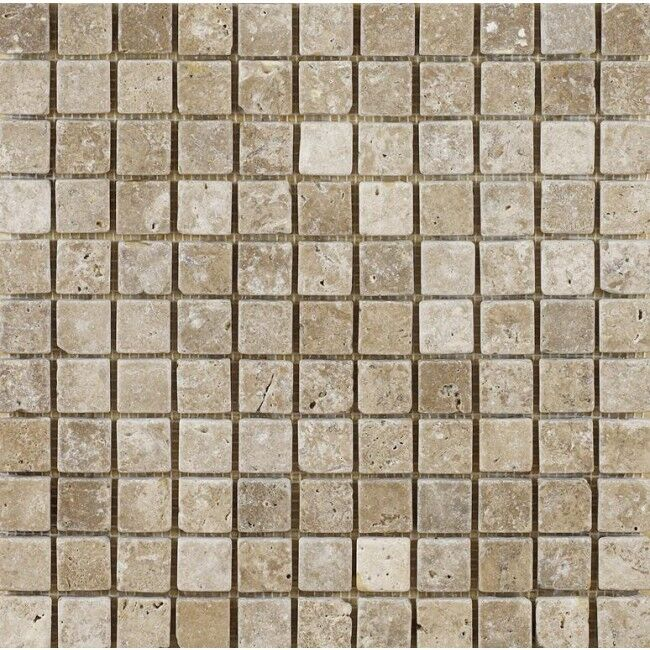Details About Tumbled Noce Walnut Travertine Mosaic Tiles 23 X Mm 1