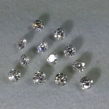 1 Pc 100% Natural 2.50 mm White Diamonds Loose VS Color G Round Brilliant Cut.