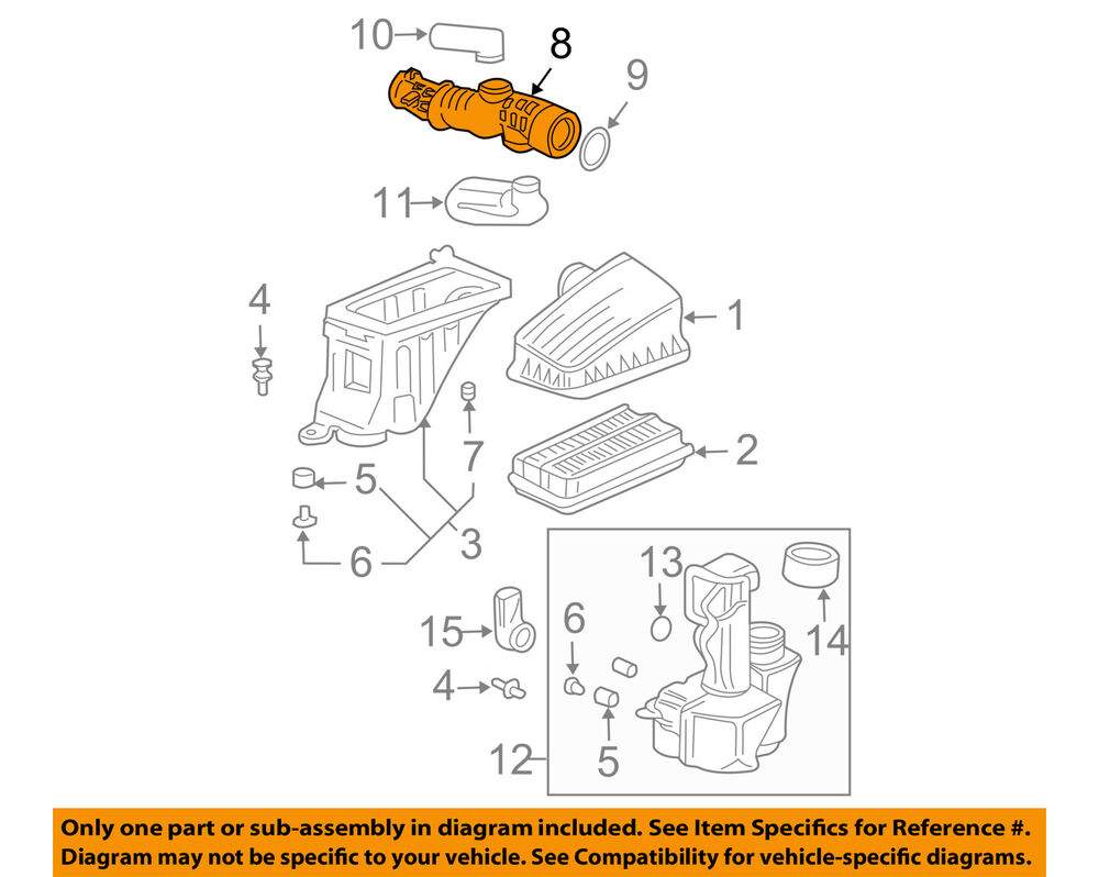 HONDA OEM 06-08 Pilot Air Intake-Tube Duct Hose 17228RYPA00 | eBay on timing chain diagram, ford sohc diagram, 4.0 sohc timing chain replacement,