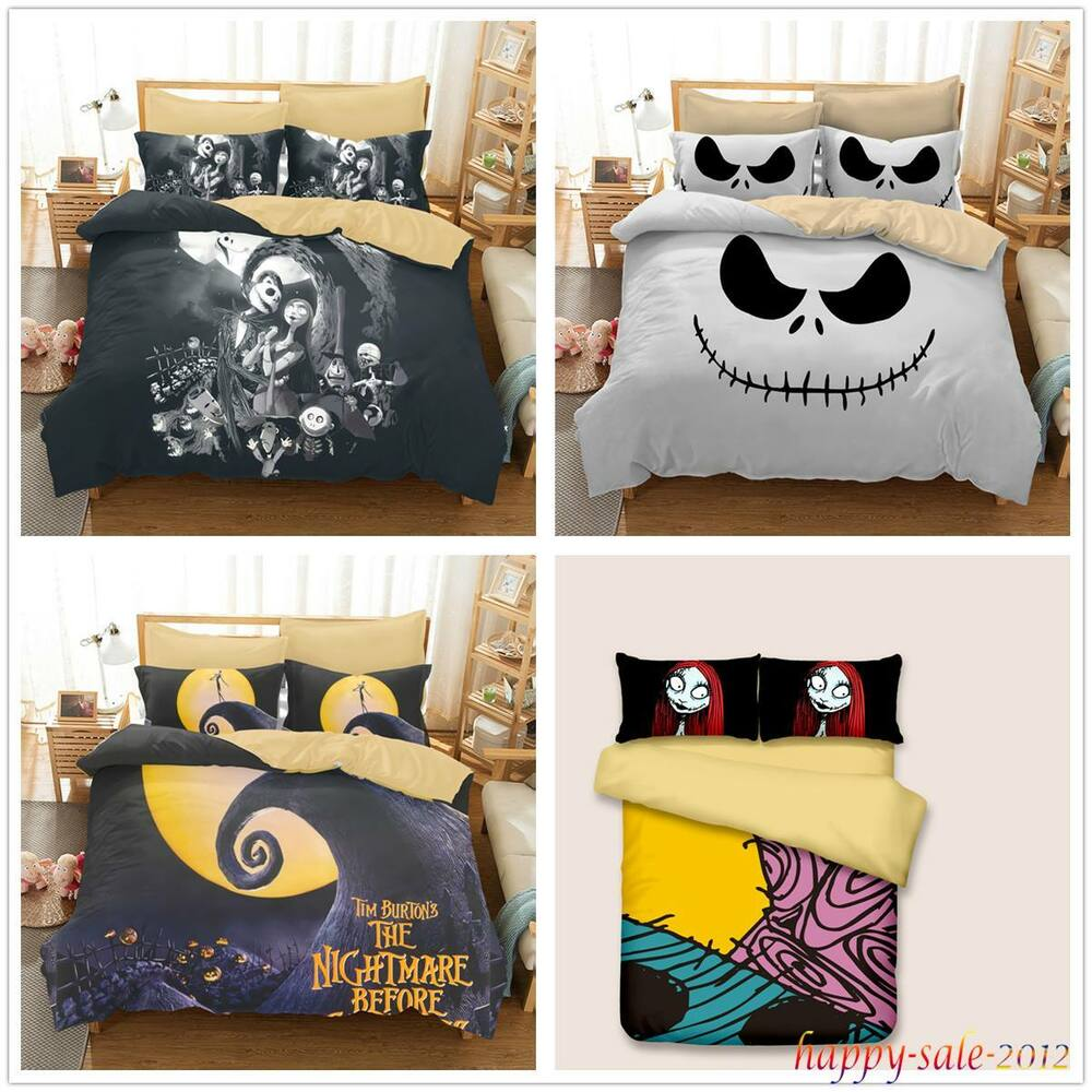 The Nightmare Before Christmas Bedding Sets Jack Sally Duvet Cover ...