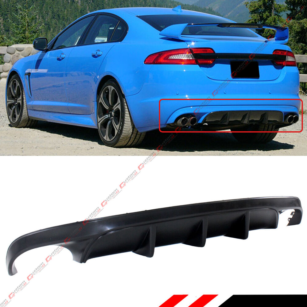 Jaguar Xe Rear: FOR 2012-2015 JAGUAR XF SPORT REAR LOWER BUMPER DIFFUSER