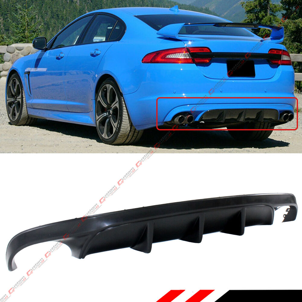 Jaguar Sport: FOR 2012-2015 JAGUAR XF SPORT REAR LOWER BUMPER DIFFUSER LIP- XFR-S STYLE