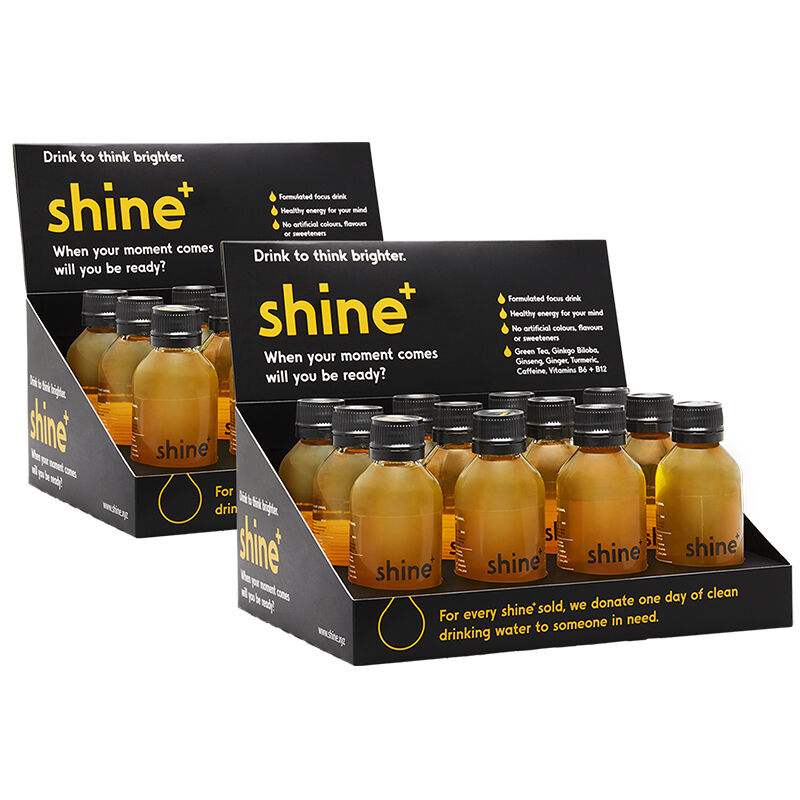 a10874ad8dd2 Details about SHINE+ PLUS 24 X 110ML BOTTLES OF AUSTRALIAS FIRST SMART DRINK  GINGER & LEMON