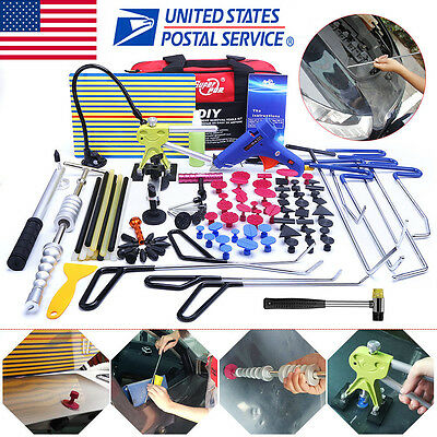 103× US PDR Tools Paintless Dent Repair Push Rods Hail Puller Lifter Hammer Tail