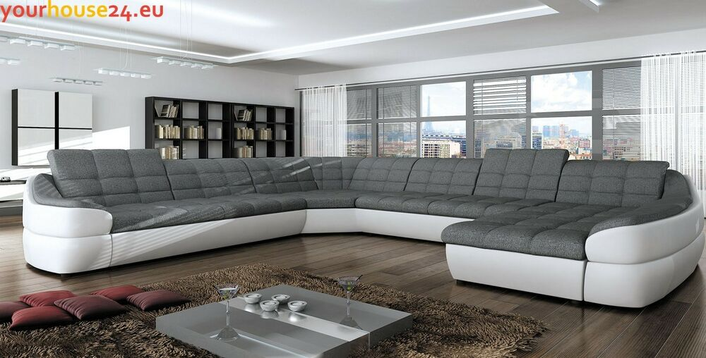 ecksofa mit schlaffunktion sofa grau wei eckcouch bettkasten future xl beige ebay. Black Bedroom Furniture Sets. Home Design Ideas